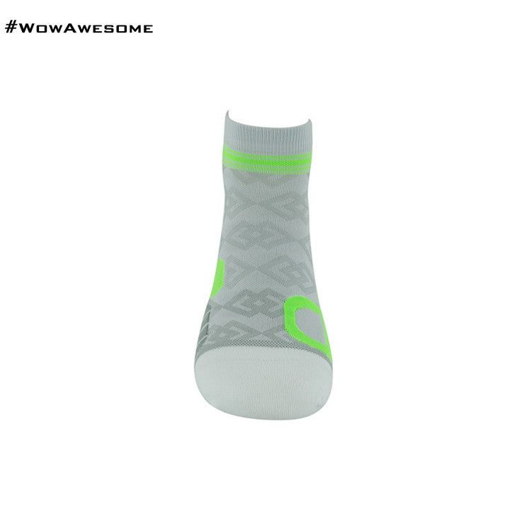 MadMatch Design MMD White Green Womens Mens Sports Boot Ankle Socks for Men Women - WowAwesomeStuff  - 10