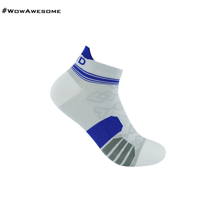 MadMatch Design MMD White Blue Womens Mens Sports Boot Ankle Socks for Men Women - WowAwesomeStuff  - 1