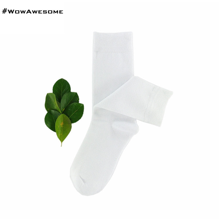 MadMatch Design MMD Plain Solid Black Womens Mens Cotton Casual Socks for Men Women - WowAwesomeStuff  - 5