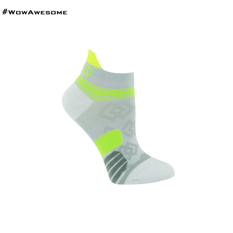 MadMatch Design MMD White Green Womens Mens Sports Boot Ankle Socks for Men Women - WowAwesomeStuff  - 1