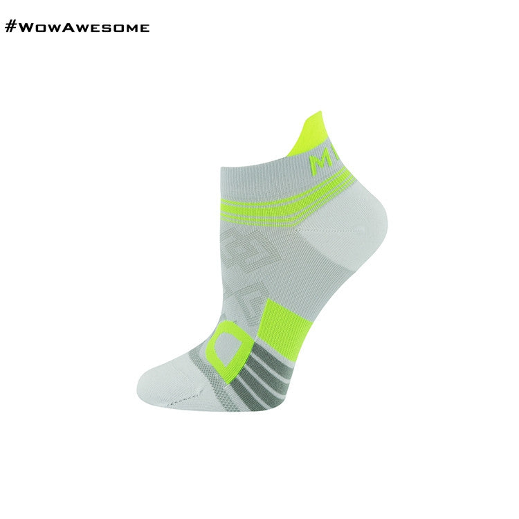 MadMatch Design MMD White Green Womens Mens Sports Boot Ankle Socks for Men Women - WowAwesomeStuff  - 4
