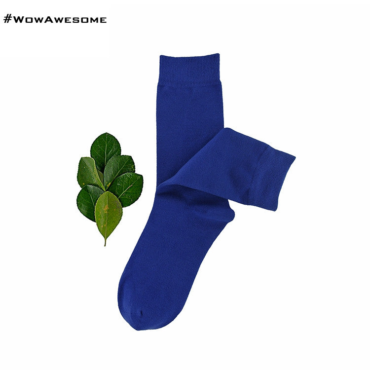 MadMatch Design MMD Plain Solid Black Womens Mens Cotton Casual Socks for Men Women - WowAwesomeStuff  - 7