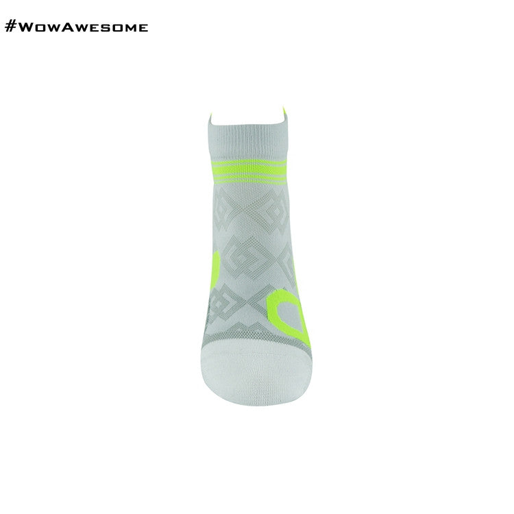 MadMatch Design MMD White Green Womens Mens Sports Boot Ankle Socks for Men Women - WowAwesomeStuff  - 2