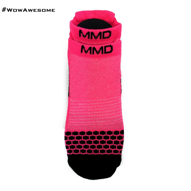 MadMatch Design MMD Sporty Sneaker Pink Womens Mens Sports Boot Ankle Socks for Men Women - WowAwesomeStuff  - 2
