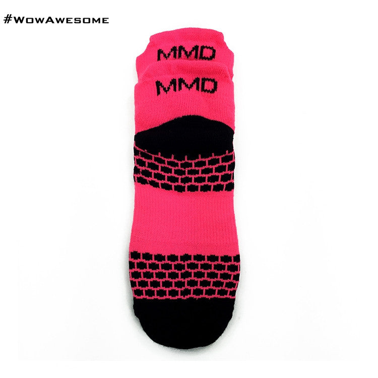 MadMatch Design MMD Sporty Sneaker Pink Womens Mens Sports Boot Ankle Socks for Men Women - WowAwesomeStuff  - 3