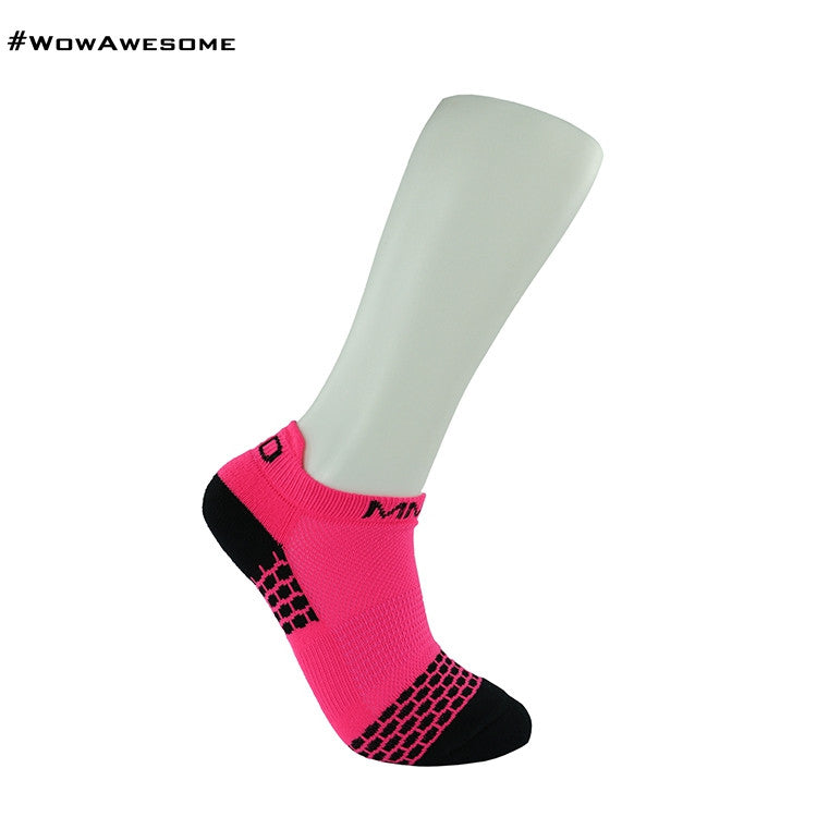 MadMatch Design MMD Sporty Sneaker Pink Womens Mens Sports Boot Ankle Socks for Men Women - WowAwesomeStuff  - 5