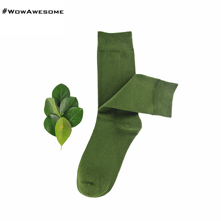 MadMatch Design MMD Plain Solid Black Womens Mens Cotton Casual Socks for Men Women - WowAwesomeStuff  - 9