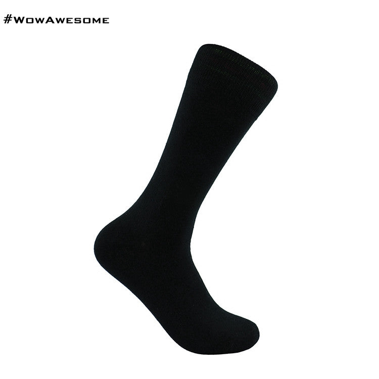 MadMatch Design MMD Plain Solid Red Womens Mens Cotton Casual Socks for Men Women with Fluorescent Stripes - WowAwesomeStuff  - 10