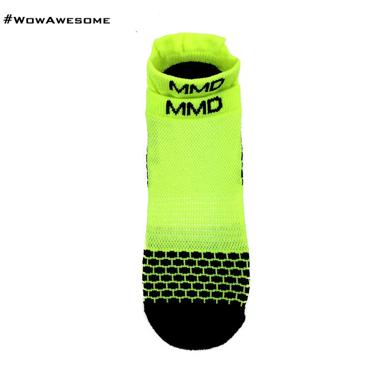 MadMatch Design MMD Sporty Sneaker Yellow Womens Mens Sports Boot Ankle Socks for Men Women - WowAwesomeStuff  - 2