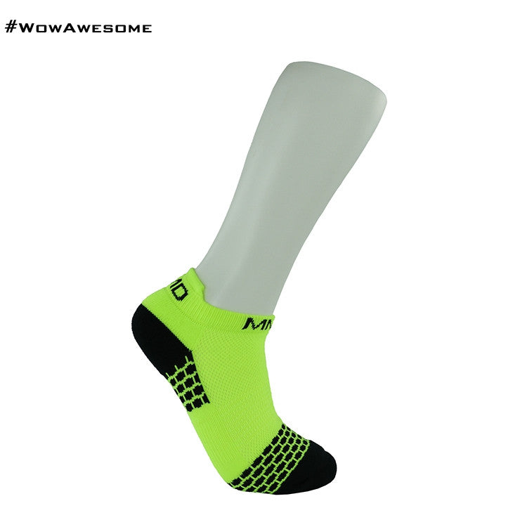 MadMatch Design MMD Sporty Sneaker Yellow Womens Mens Sports Boot Ankle Socks for Men Women - WowAwesomeStuff  - 5