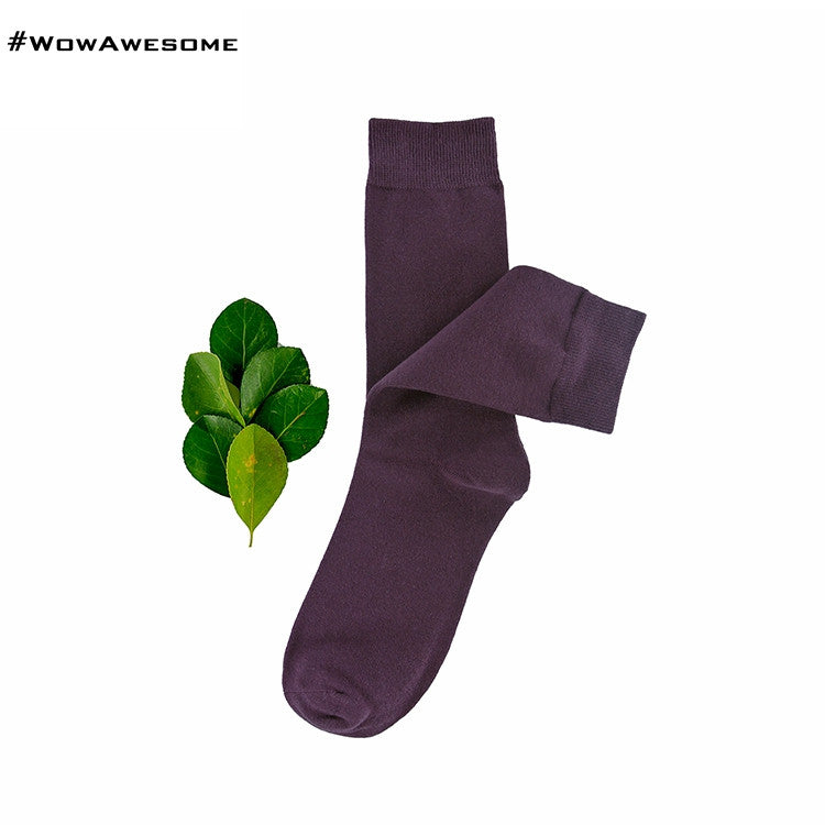 MadMatch Design MMD Plain Solid Black Womens Mens Cotton Casual Socks for Men Women - WowAwesomeStuff  - 12