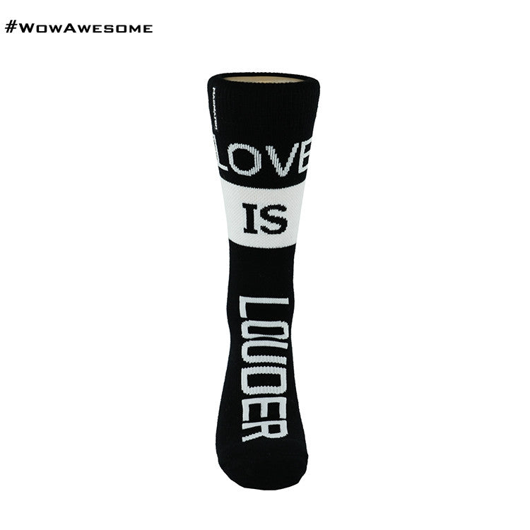 MMD MadMatch Design on Black and White Womens Mens Cotton Casual Boot Socks for Men Women MMD16G-007
