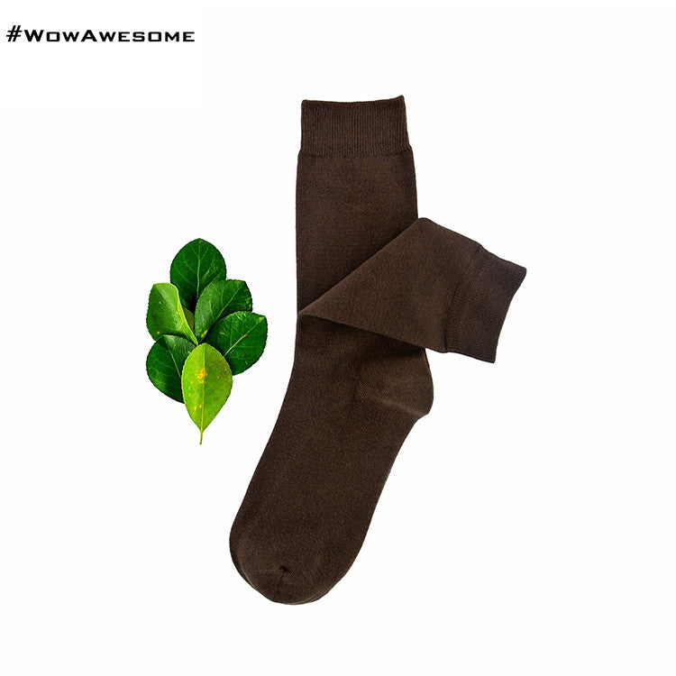 MadMatch Design MMD Plain Solid Black Womens Mens Cotton Casual Socks for Men Women - WowAwesomeStuff  - 13