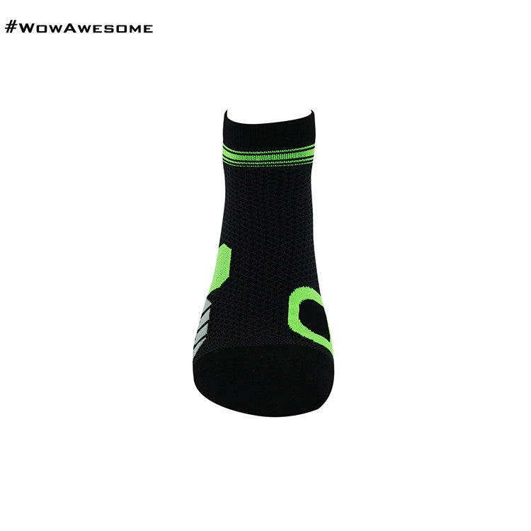 MadMatch Design MMD White Green Womens Mens Sports Boot Ankle Socks for Men Women - WowAwesomeStuff  - 17