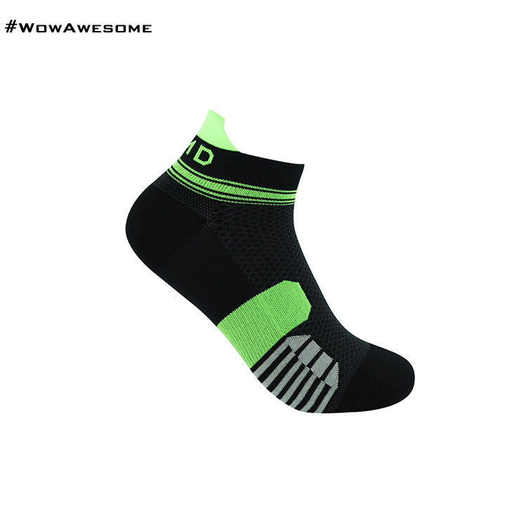 MadMatch Design MMD Black Green Womens Mens Sports Boot Ankle Socks for Men Women - WowAwesomeStuff  - 16