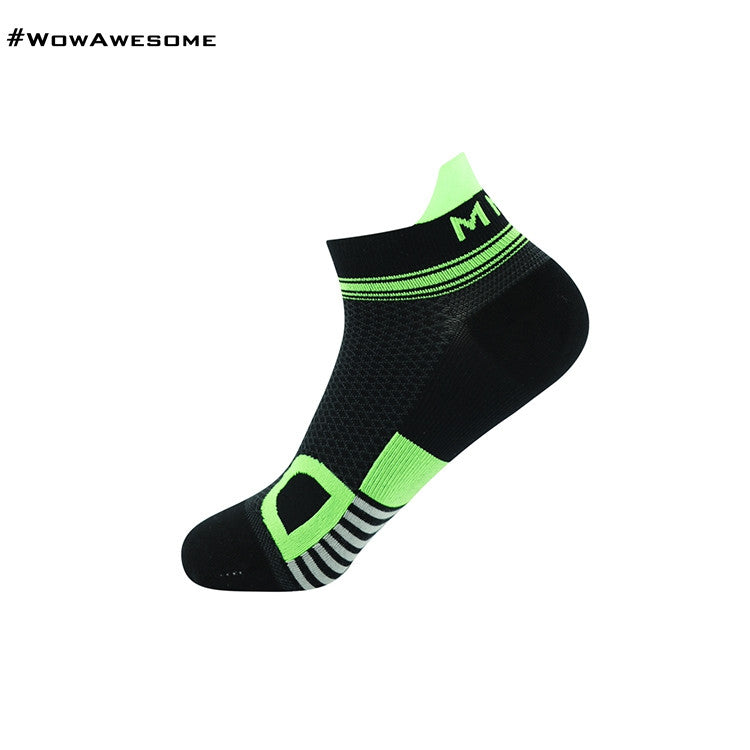 MadMatch Design MMD Black Green Womens Mens Sports Boot Ankle Socks for Men Women - WowAwesomeStuff  - 13