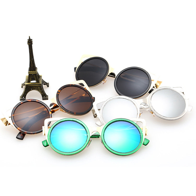 2015 New Design Steampunk Punk Ladies Polarized Round Sunglasses Shades Goggles Sun Glasses for Women - WowAwesomeStuff  - 3