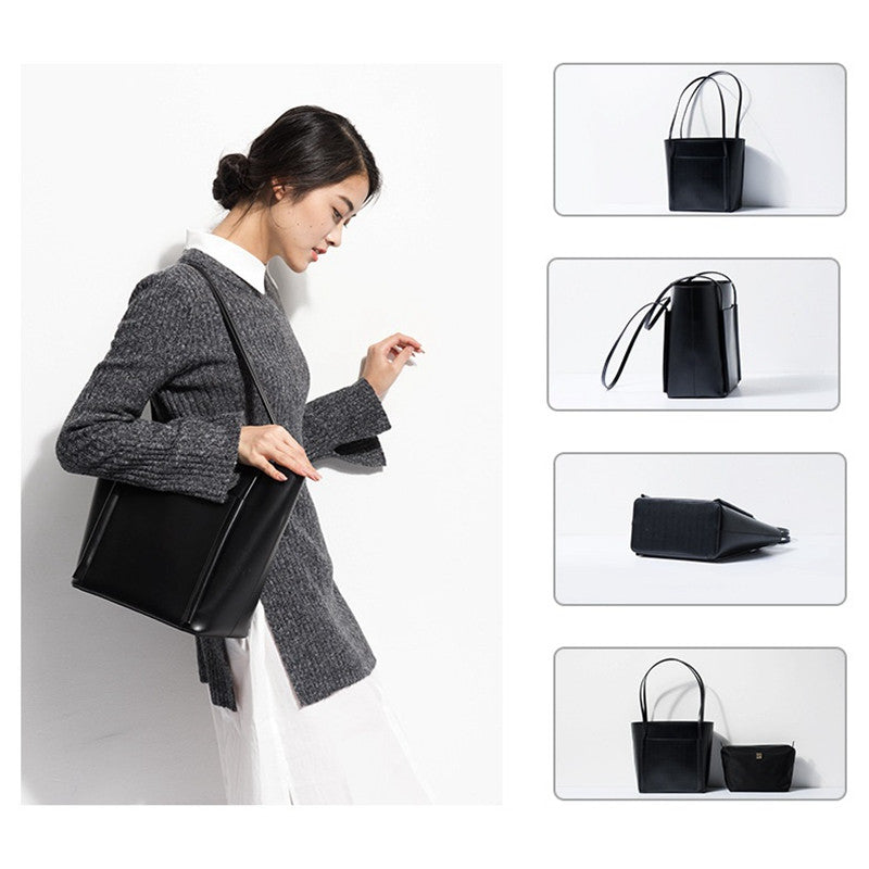 WowAwesome Real Cow Leather Women Handbags Tote Bag for Female S-160