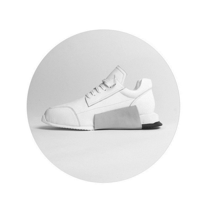 Famous Luxury Brand RICK OWENS Women Mens Real Leather Sports Shoes