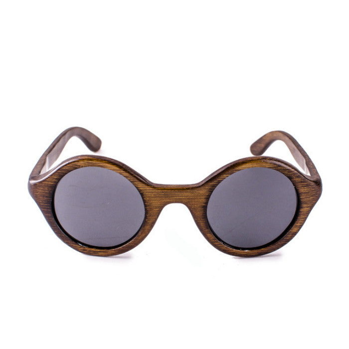 Round Brown Handcrafted Wood Sunglasses Shades Goggles - WowAwesomeStuff  - 2