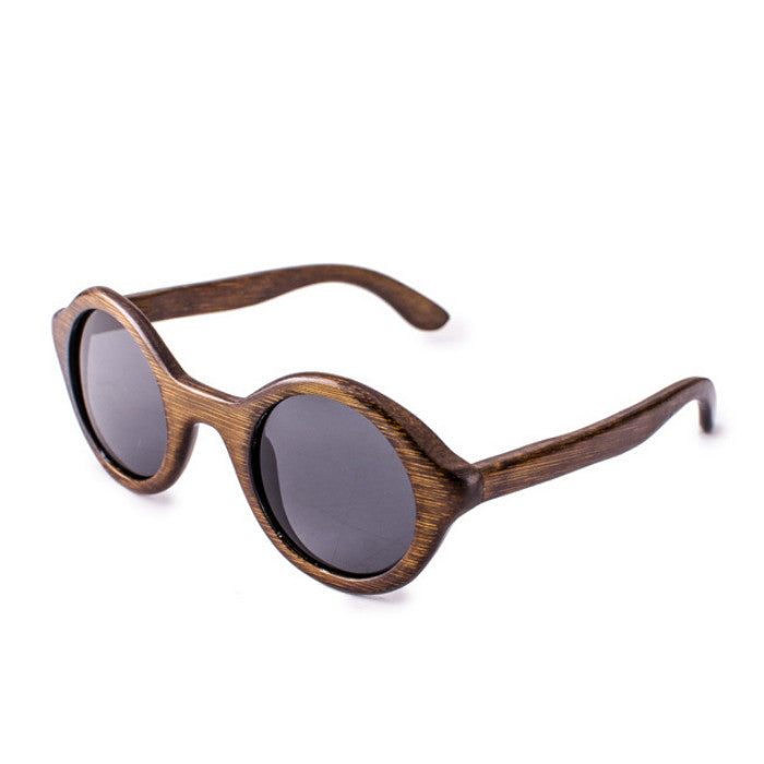 Round Brown Handcrafted Wood Sunglasses Shades Goggles - WowAwesomeStuff  - 3