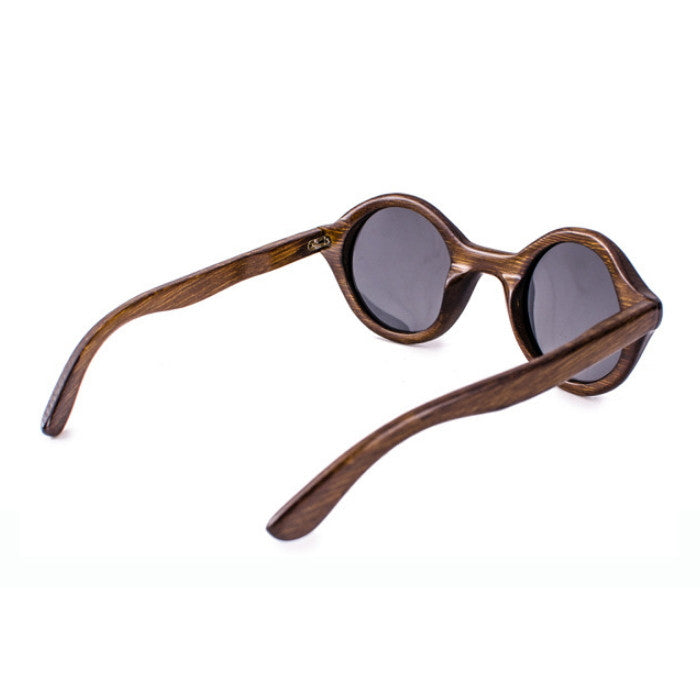 Round Brown Handcrafted Wood Sunglasses Shades Goggles - WowAwesomeStuff  - 5