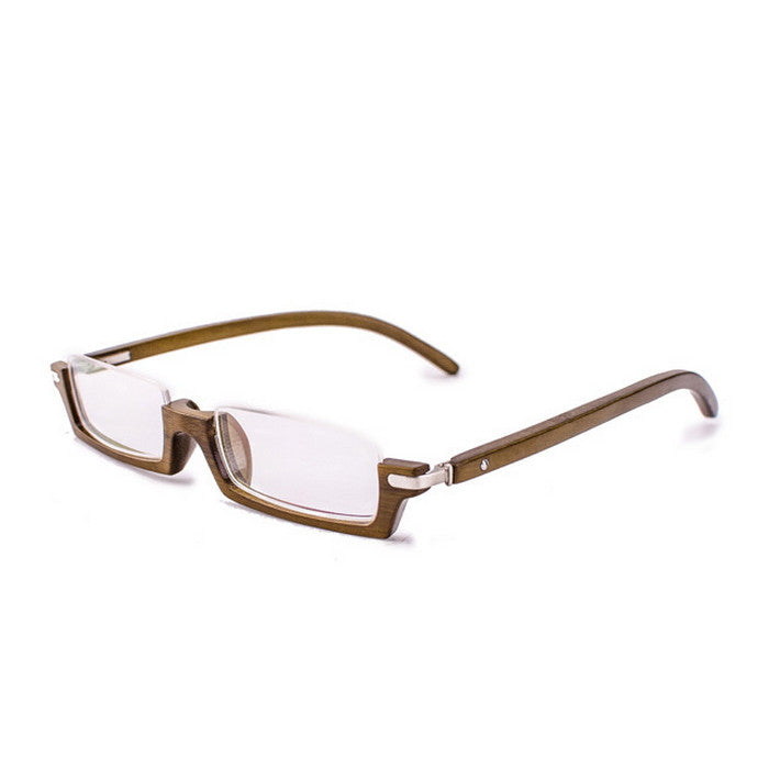 Brown Semi-Rimless Myopia Reading Eyeglasses with Myopic Lens - WowAwesomeStuff  - 3