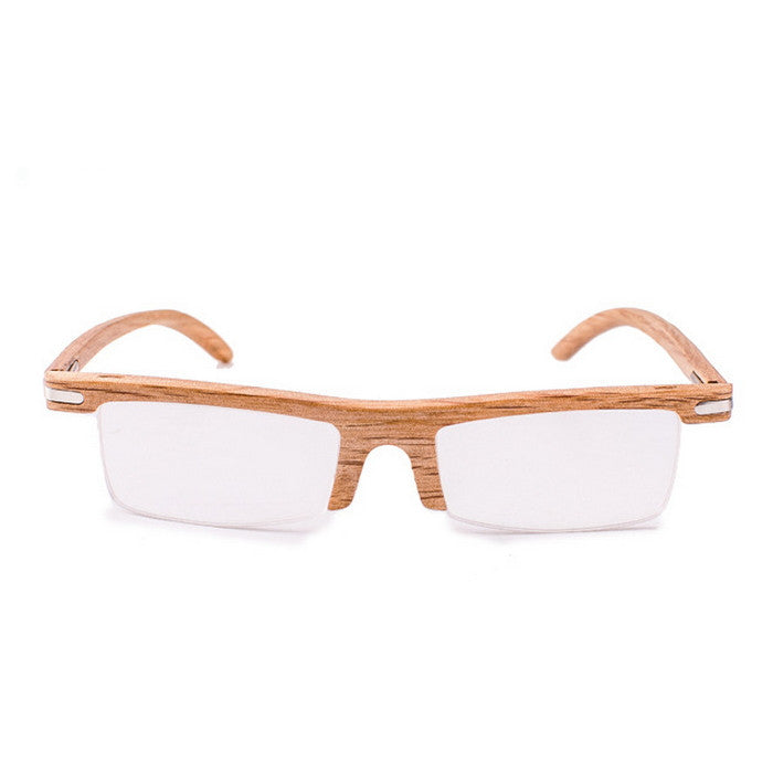 Brown Semi-Rimless Myopia Reading Eyeglasses with Myopic Lens - WowAwesomeStuff  - 2