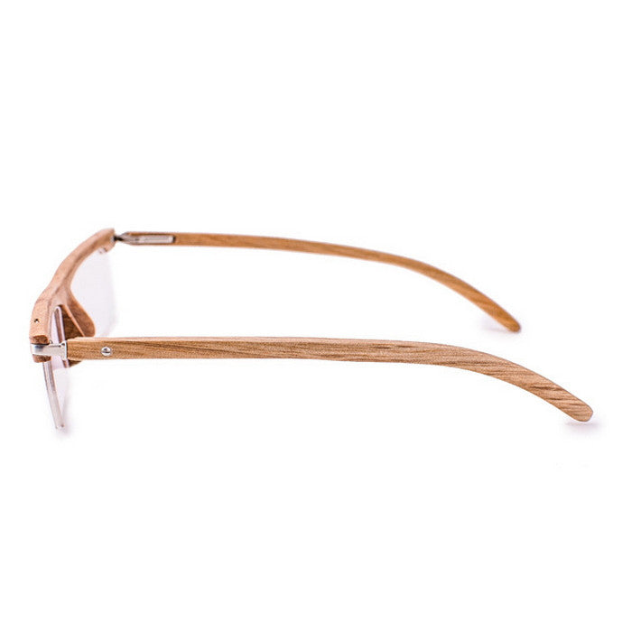 Brown Semi-Rimless Myopia Reading Eyeglasses with Myopic Lens - WowAwesomeStuff  - 4