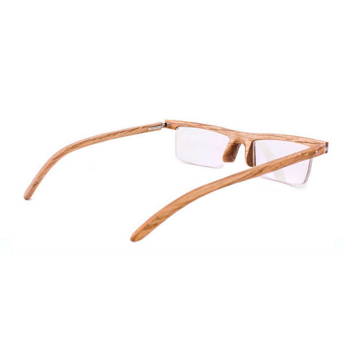 Brown Semi-Rimless Myopia Reading Eyeglasses with Myopic Lens - WowAwesomeStuff  - 5