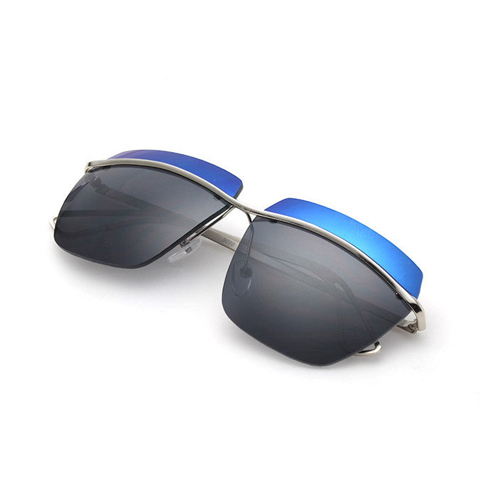 Brand Blue Unique Ladies Steampunk Punk Sunglasses Shades Sunnies Sun Glasses for Women - WowAwesomeStuff  - 1