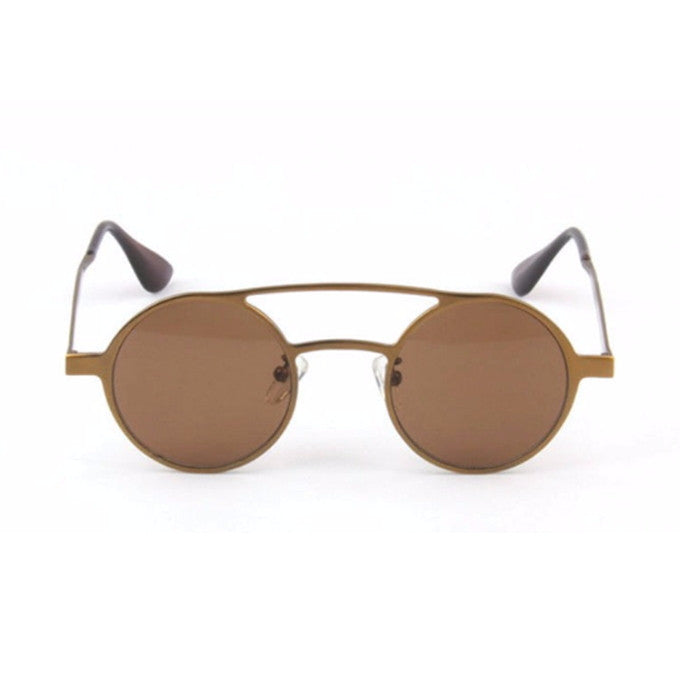 Brown Retro Handmade Steampunk Sunglasses Shades Sunnies Goggles - WowAwesomeStuff  - 2