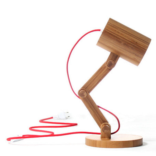 Handmade Bamboo Collapsible Reading Lamp Lighting Light - WowAwesomeStuff  - 2