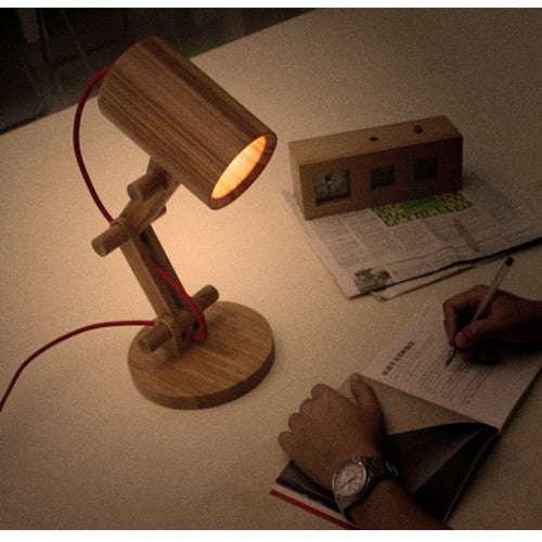 Handmade Bamboo Collapsible Reading Lamp Lighting Light - WowAwesomeStuff  - 6