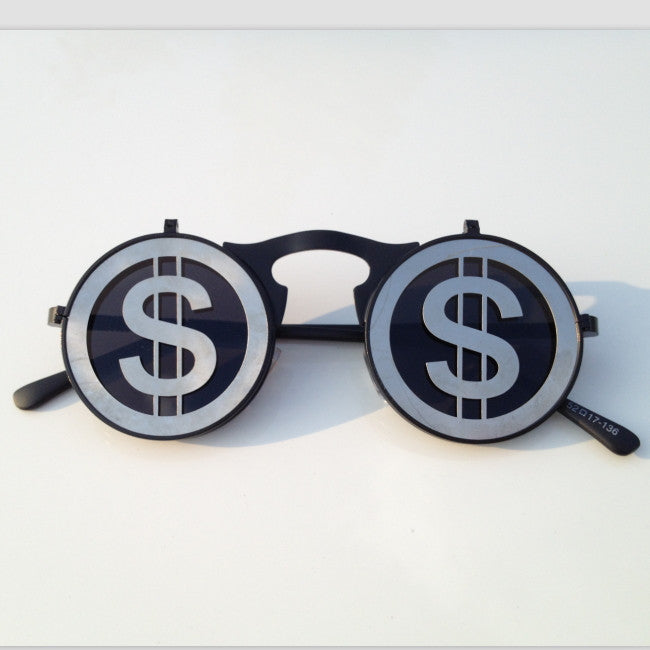 Unique Funky Design USD US Dollars Steampunk Punk Collapsible Retro Sunglasses Shades Goggles - WowAwesomeStuff  - 2