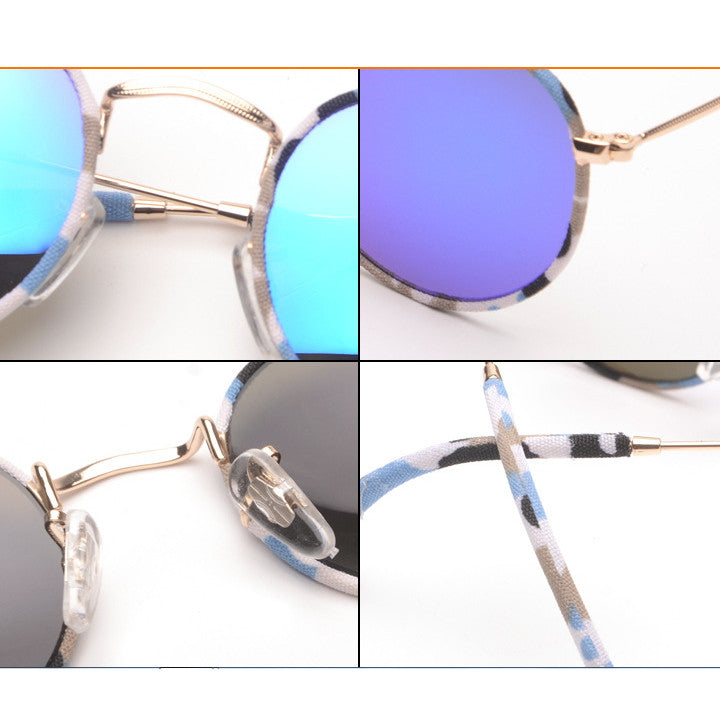 Mirrored Silver Unique Arabesquitic Vintage Fabrics Aviator Sunglasses Shades Sun Glasses Goggles - WowAwesomeStuff  - 3