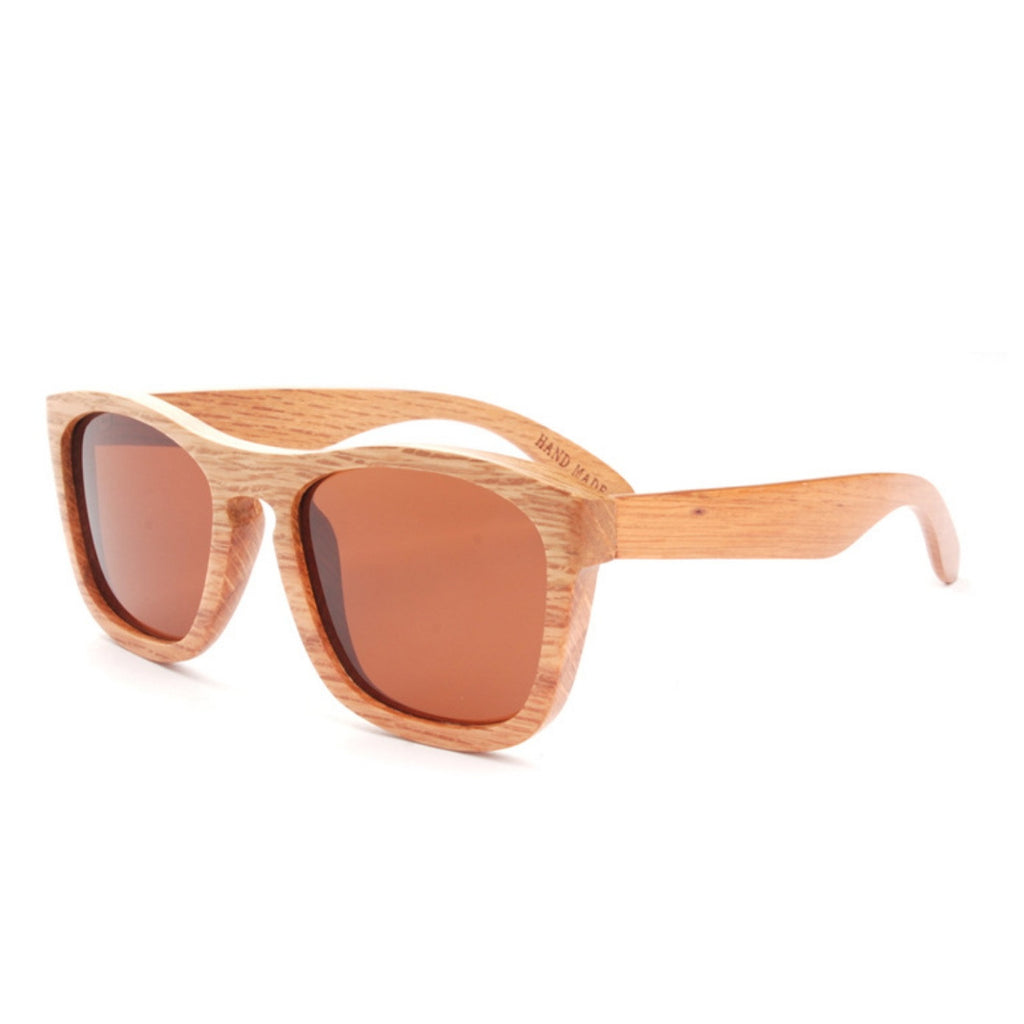 Retro Grained Vintage Style Polarized Handmade Wood Sunglasses Shades Sun Glasses - WowAwesomeStuff  - 3