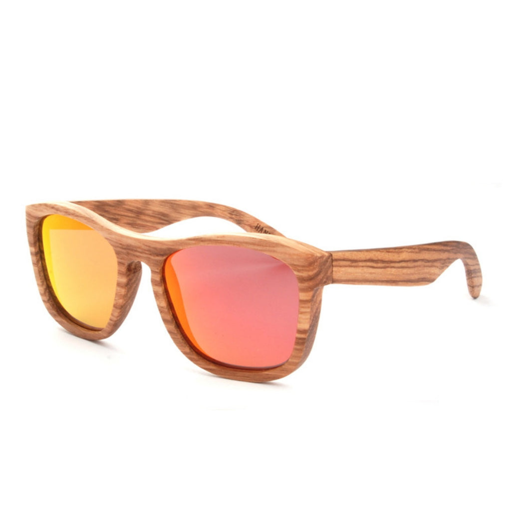 Retro Grained Vintage Style Polarized Handmade Wood Sunglasses Shades Sun Glasses - WowAwesomeStuff  - 5