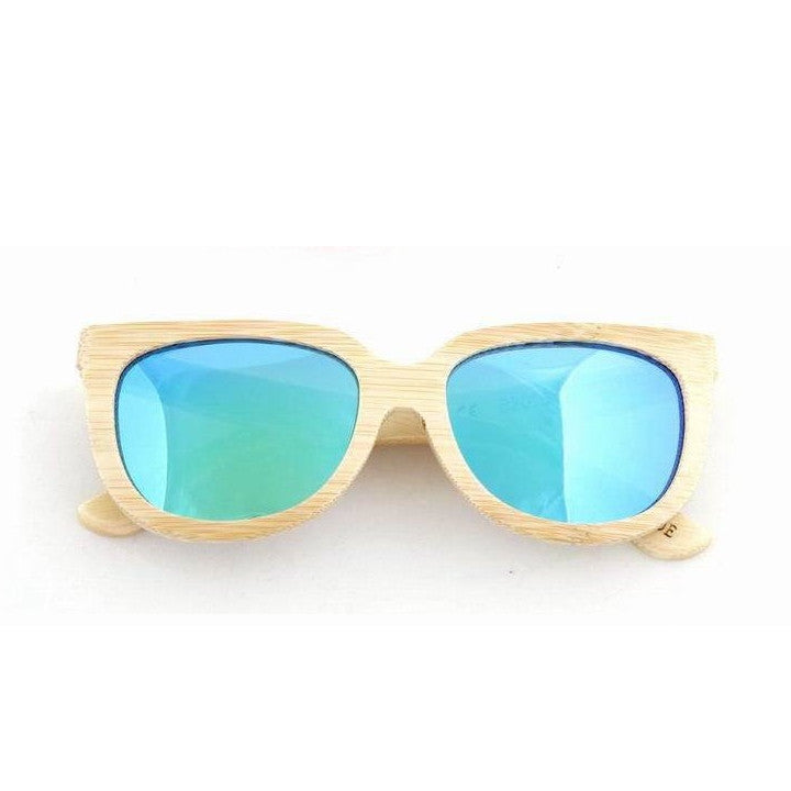 Handmade Aviator Wood Bamboo Sunglasses Shades for Men Women - WowAwesomeStuff  - 9