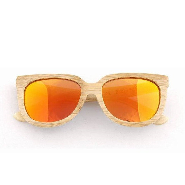 Handmade Aviator Wood Bamboo Sunglasses Shades for Men Women - WowAwesomeStuff  - 12