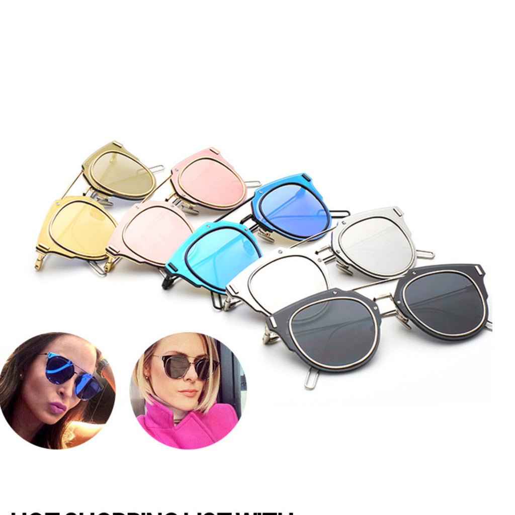 1 Unique Design Ladies Cat Eyes Sunglasses Shades Sun Glasses Goggles for Women - WowAwesomeStuff  - 5