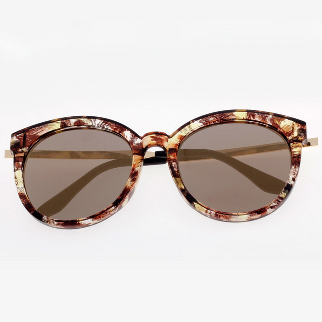 Marble Frame Retro Vintage Style Cat Eyes Sunglasses Shades Goggles - WowAwesomeStuff  - 16