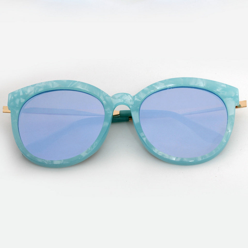 Marble Frame Retro Vintage Style Cat Eyes Sunglasses Shades Goggles - WowAwesomeStuff  - 19