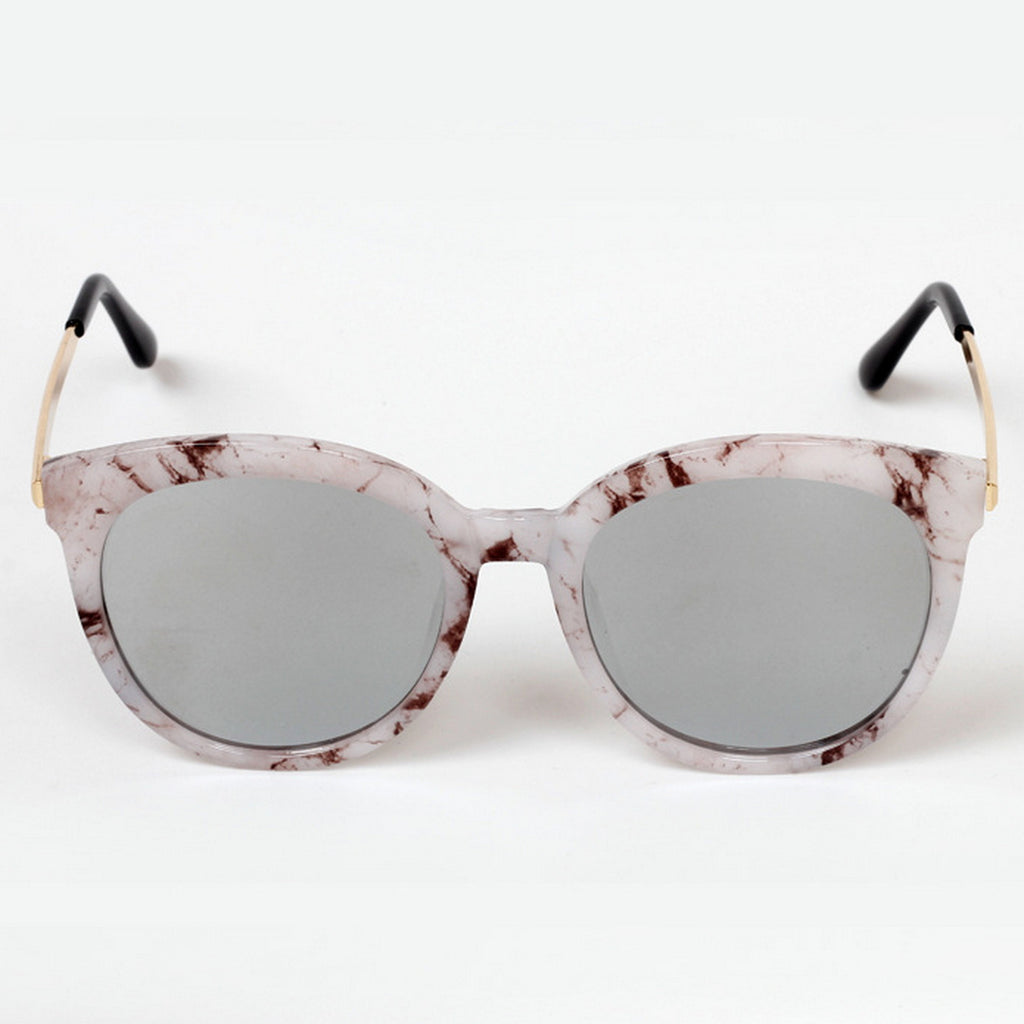 Marble Frame Retro Vintage Style Cat Eyes Sunglasses Shades Goggles - WowAwesomeStuff  - 2