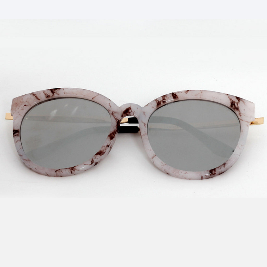 Marble Frame Retro Vintage Style Cat Eyes Sunglasses Shades Goggles - WowAwesomeStuff  - 3