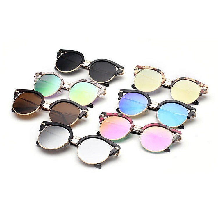 7 Colors Colorful Girls Cat Eye Sunglasses Shades Sunnies Goggles Sun Glasses for Women - WowAwesomeStuff  - 7