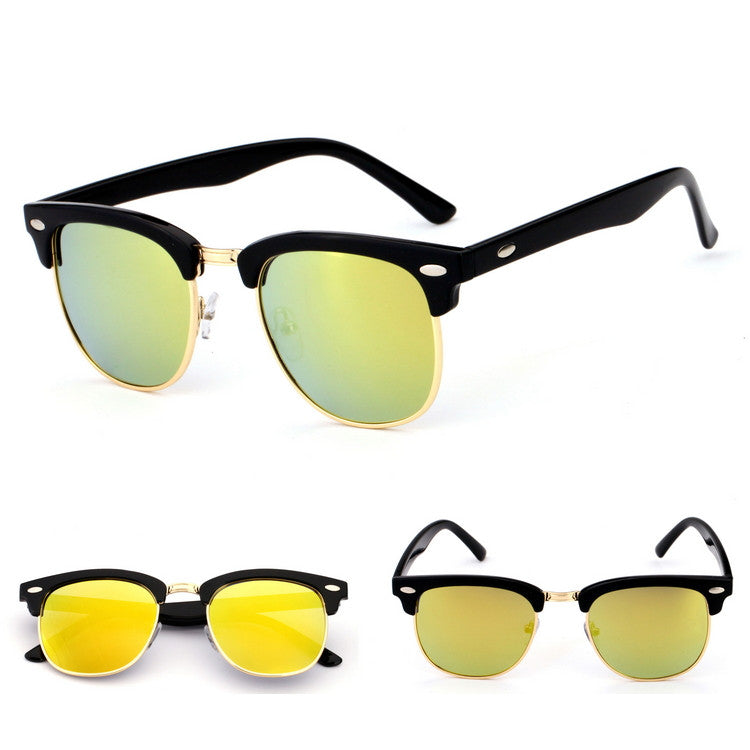 new design sunglasses  New Design Semi- Rimless Men Women Aviator Sunglasses Goggles ...
