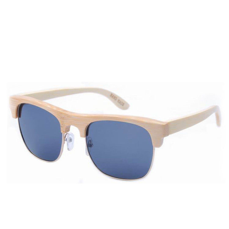 2016 Unique Retro Semi Rimless Women Wood Bamboo Sunglasses for Ladies Sun Glasses Shades Hot Sale - WowAwesomeStuff  - 9