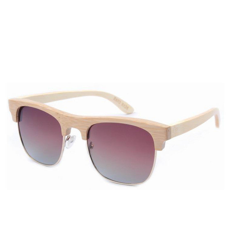 2016 Unique Retro Semi Rimless Women Wood Bamboo Sunglasses for Ladies Sun Glasses Shades Hot Sale - WowAwesomeStuff  - 7