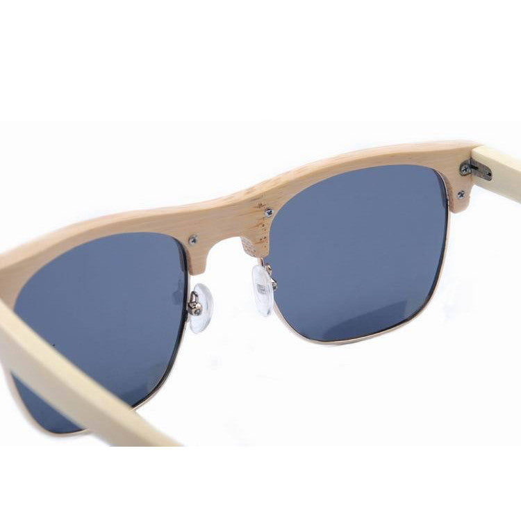 2016 Unique Retro Semi Rimless Women Wood Bamboo Sunglasses for Ladies Sun Glasses Shades Hot Sale - WowAwesomeStuff  - 10